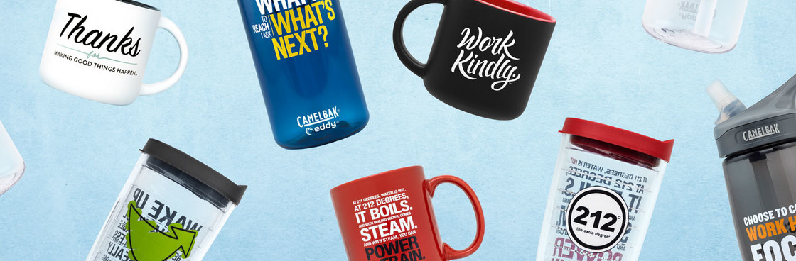 Mugs, Water Bottles, Tumblers