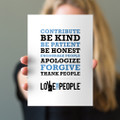 Love Your People 5x7 Prints - white