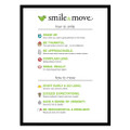 Smile & Move 18 in. x 24 in. Poster (white)