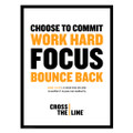Cross The Line 18 in. x 24 in. Poster (white)