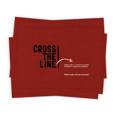 Cross The Line 5x7 Prints - red (set of 5) - Original Version