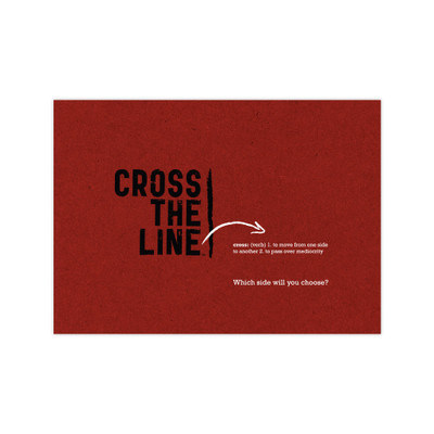 Cross The Line reminder card pack - red (set of 5)