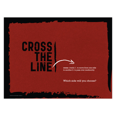 Cross The Line 24x18 Poster (red) - Original Version