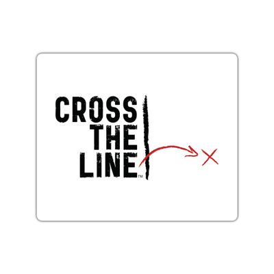 Cross The Line Stickers - small - Original Version