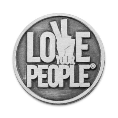 Love Your People Lapel Pin (round)