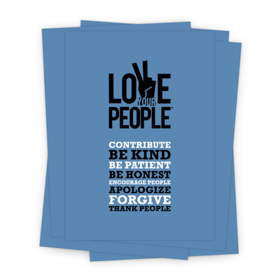 Love Your People 5x7 Prints - blue