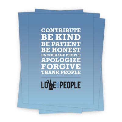 Love Your People 5x7 Prints - blue gradient