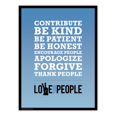 Love Your People 18x24 Poster (blue gradient)