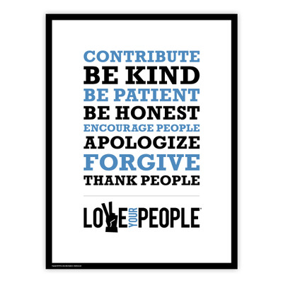 Love Your People 18x24 Poster (white)