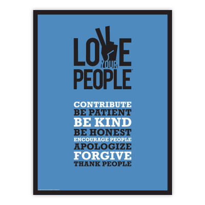 Love Your People 18x24 Poster (blue)
