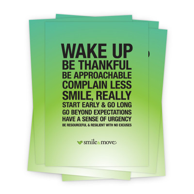 Smile & Move 5x7 Prints - green