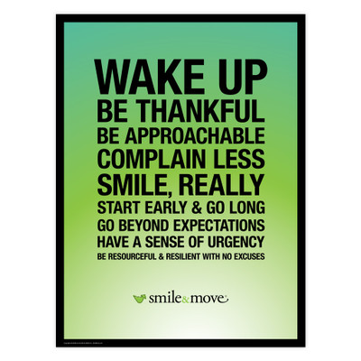 Smile & Move 18x24 Poster (green)
