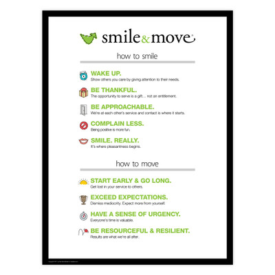 Smile & Move 18x24 Poster (white)