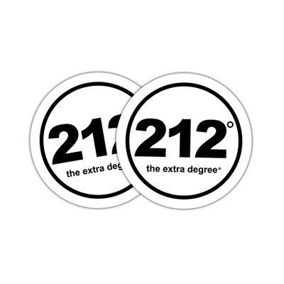 212° Stickers - medium (official logo)