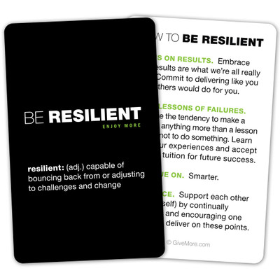 Be Resilient Pocket Card (single)
