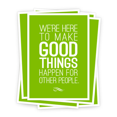 Make Good Things Happen 5x7 Prints - green
