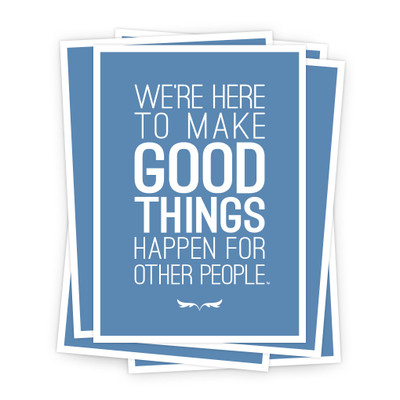 Make Good Things Happen 5x7 Prints - blue