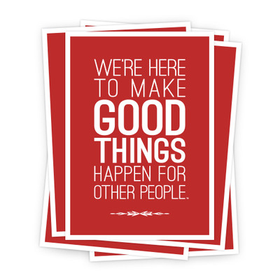 Make Good Things Happen 5x7 Prints - red