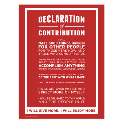 Declaration of Contribution 18x24 Poster (red)