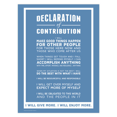 Declaration of Contribution 18x24 Poster (blue)