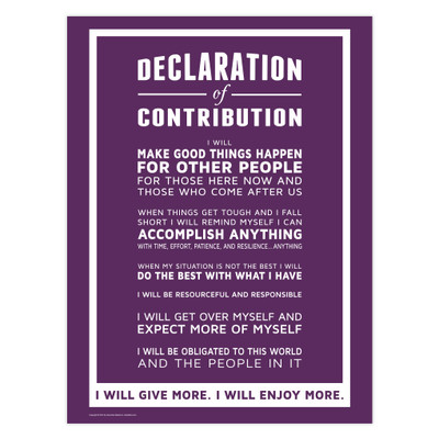 Declaration of Contribution 18x24 Poster (purple)