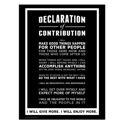 Declaration of Contribution 18x24 Poster (black)