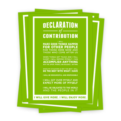 Declaration of Contribution 5x7 Prints - green