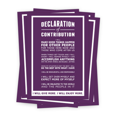 Declaration of Contribution 5x7 Prints - purple
