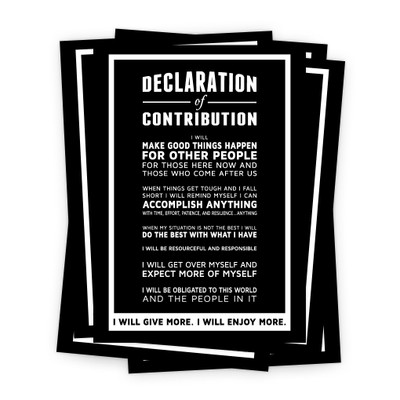 Declaration of Contribution 5x7 Prints - black