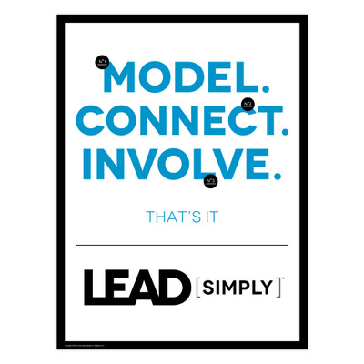 Lead [simply] 18x24 Poster (white)
