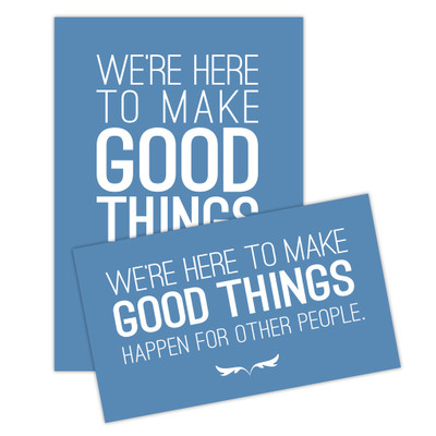 Make Good Things Happen Sticker Set - blue