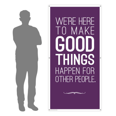 Make Good Things Happen 3x6 Banner
