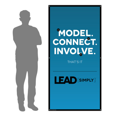 Lead Simply 3 ft. x 6 ft. Banner