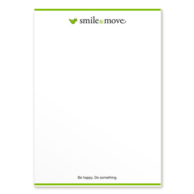 Smile & Move Notepad (single)