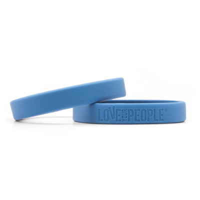 Love Your People Wristband (blue - single)