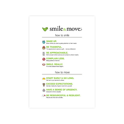 Smile & Move 5x7 Print - white (single)