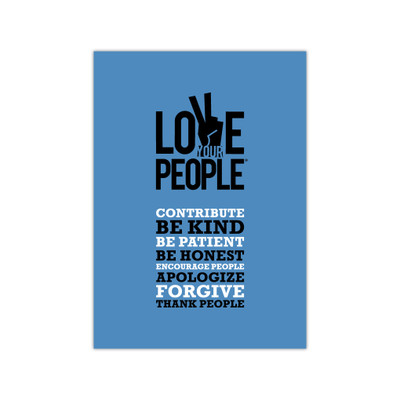 Love Your People 5x7 Print - blue (single)