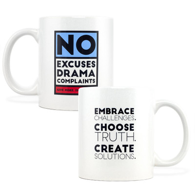 No Excuses, Drama, Complaints Mug (red - 11oz)