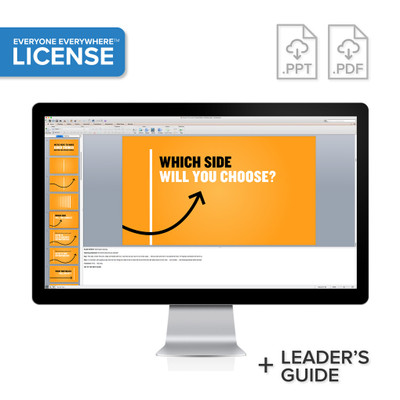 Cross The Line PowerPoint® Presentation License
