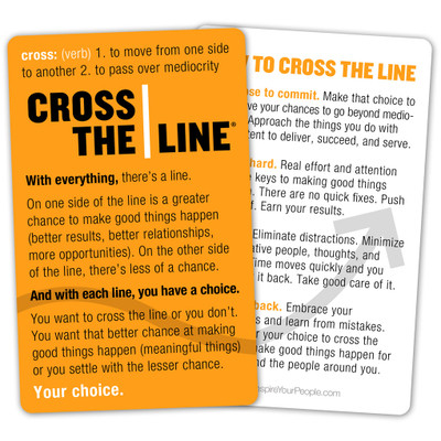Cross The Line Pocket Cards (single)