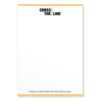 Cross The Line Notepads (single)