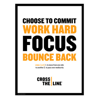 Cross The Line 18x24 Poster (white)