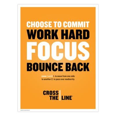 Cross The Line 18x24 Poster (orange)
