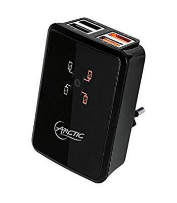 HOME UK WALL USB CHARGER 4USB O/P 2xUSB 2.00 2xUSB3,00 5VDC/4500mA MAX