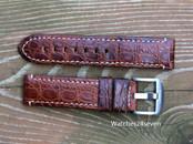 Panerai OEM Mare Nostrum A series strap brown alligator 22/22 mm