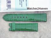 Panerai OEM Green Brilliant Alligator 22/20 mm standard length 115/75 mm Retail $390 Now $350 USD