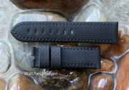 Panerai OEM Calf with Rubberized Carbon Black Coating
