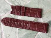Panerai OEM Bordeaux Alligator for deployant strap Retail $390 Now $350 USD