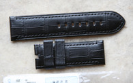 Panerai OEM Black Alligator Matching Stitching 26/26 mm 125/75 length Retail $390 our price $350