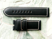 Panerai OEM Black Calf White Stitch Strap 26/26 mm